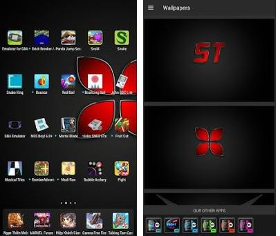 Dark Themes 3D Ilauncher Red Wallpaper Touch Watch 1 44 apk download