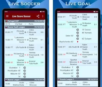 Soccer ⚽️ Live Scores Sport Football Match Results 5 32 11