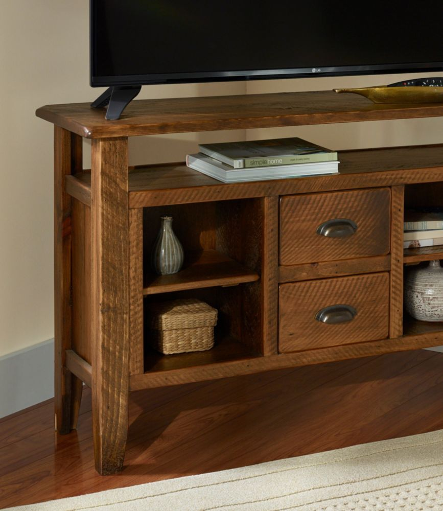 Rustic Wooden Entertainment Console