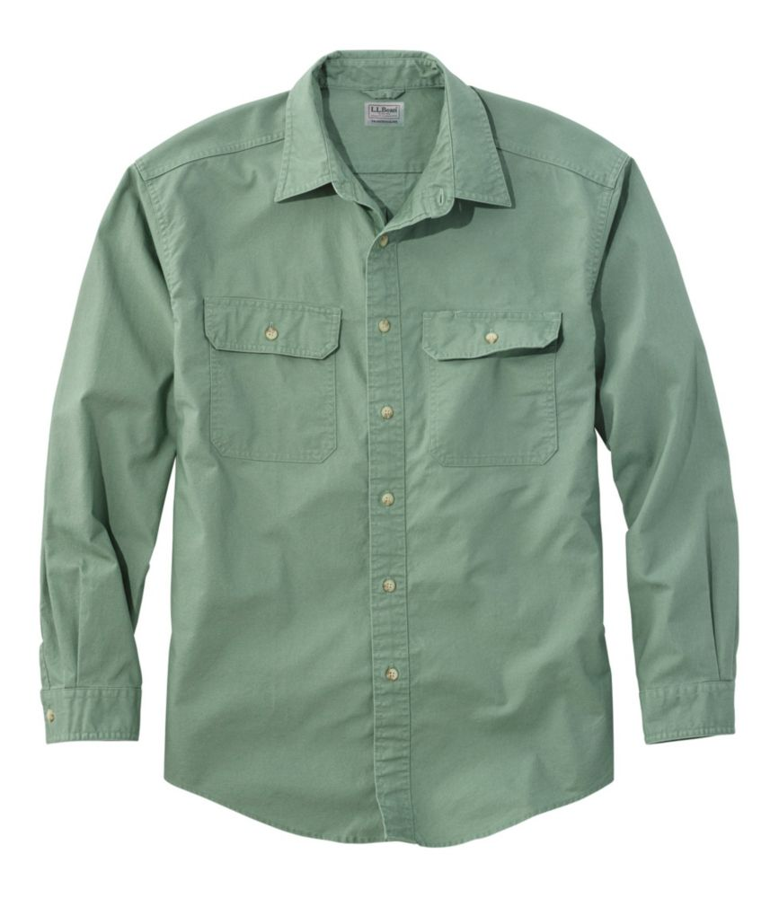 Mens Sunwashed Canvas Shirt Traditional Fit