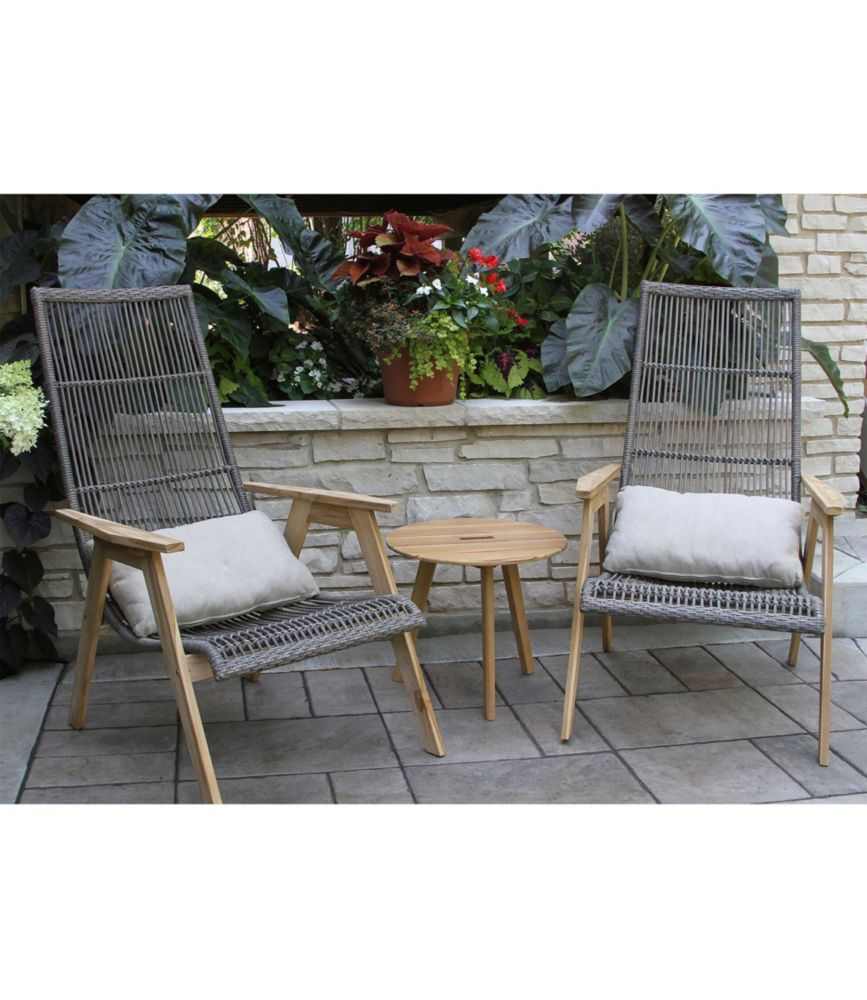 Outdoor Chair Set Wicker Teak Chairs Set Of Two