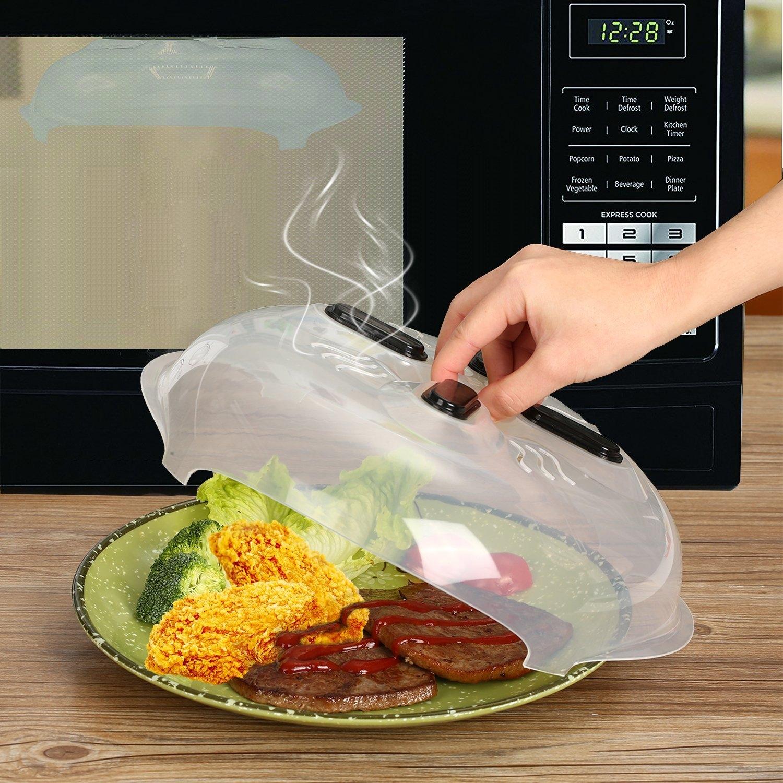 hover cover microwave food splatter