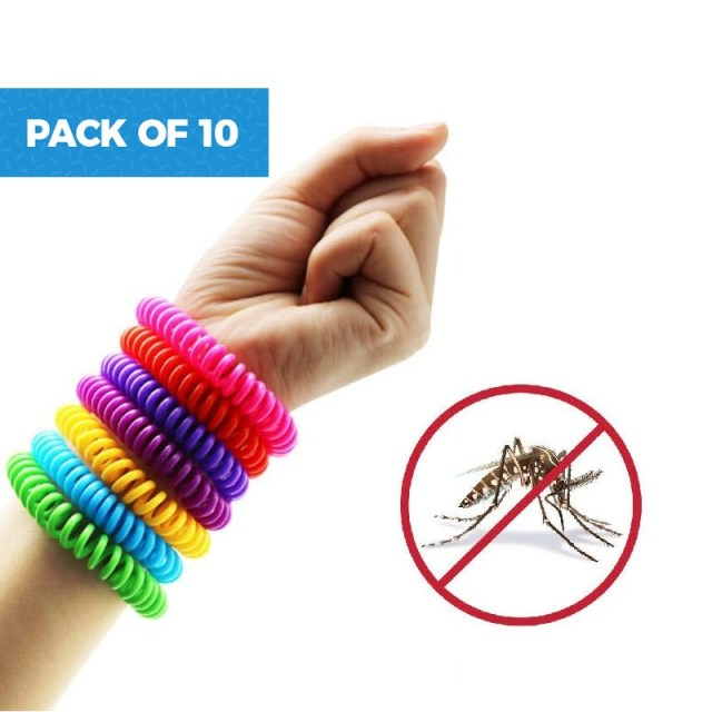 40% off on Pack of 10 Natural Mosquito Repellent Bracelets
