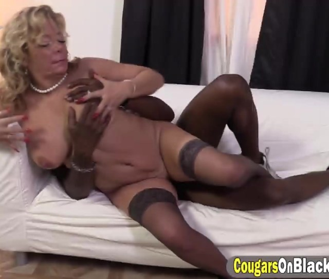 Lewd Blonde Cougar Karen Summer Cums While Having Black Dick Inside Pussy