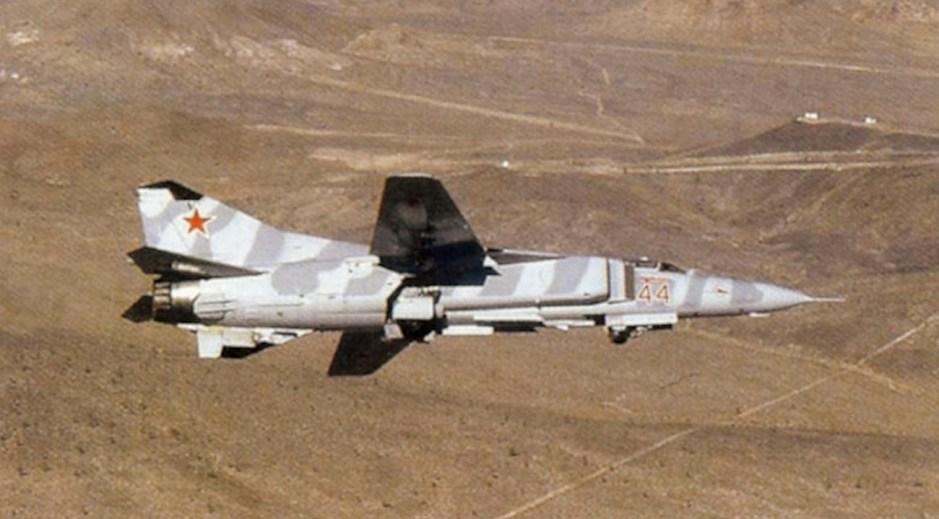 MiG-23MS del 4477º Escuadrón de Pruebas y Evaluación.