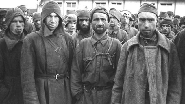 Sowjetische Gefangene im Mauthausen-Lager