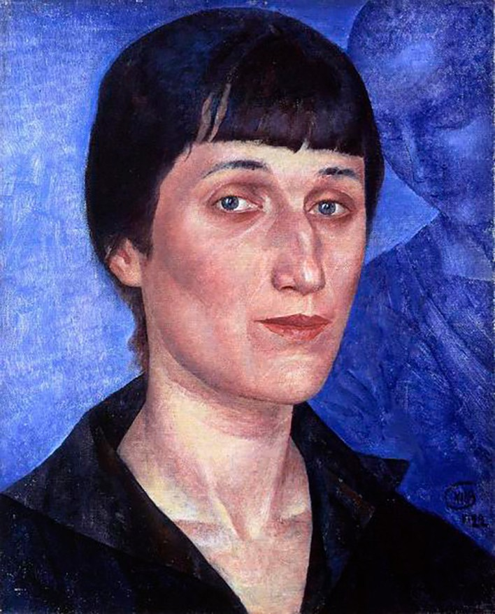 Portrait of Anna Akhmatova, by Kuzma Petrov-Vodkin.