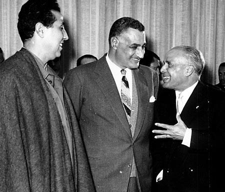 Ben Bella junto a Gamal Abdel Nasser