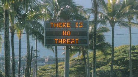 La información relacionada con una alerta falsa de emergencia en Oahu (EE. UU.), el 13 de enero de 2018.
