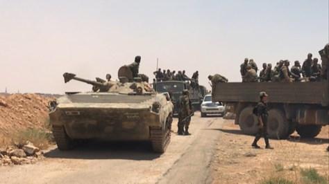 El Ejército de Siria toma el control de la frontera con Jordania