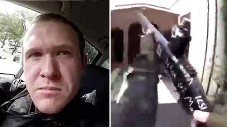 A la izquierda, la imagen del presunto autor de la masacre; a la derecha el arma utilizada en el ataque.