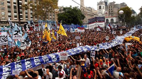 Marcha por el Día de la Memoria en Buenos Aires, Argentina, el 24 de marzo de 2018.