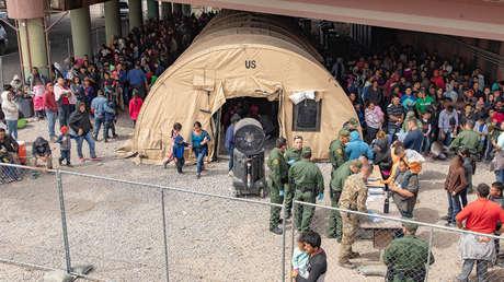 Centro de detención de migrantes centroamericanos en la frontera sur de EE.UU.
