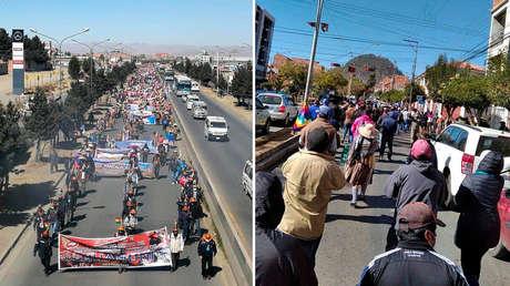 Marchas masivas en Bolivia: miles protestan contra postergación de las elecciones y exigen recuperar democracia