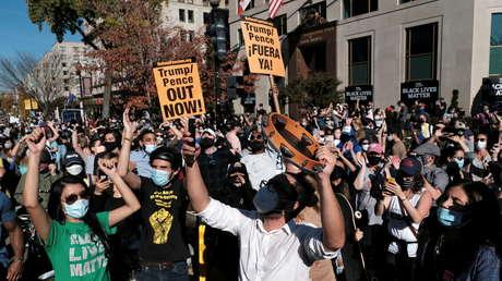 VIDEO: Las calles de Washington se inundan para celebrar la victoria de Biden