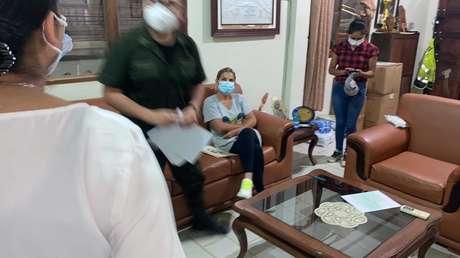 Primeras imágenes de la captura de la expresidenta 'de facto' de Bolivia Jeanine Áñez