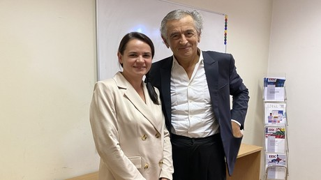 Bernard-Henri Lévy und Swetlana Tichanowskaja