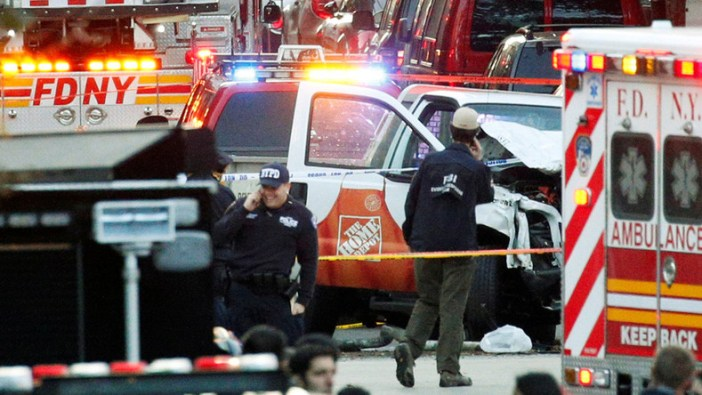 'Cowardly act of terror': Officials react to Manhattan truck attack that killed at least 8