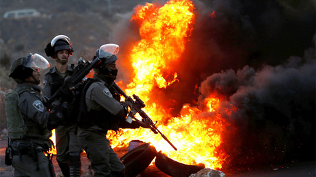 Clashes near the Jewish settlement of Beit El, near the West Bank city of Ramallah December 9, 2017 © Mohamad Torokman