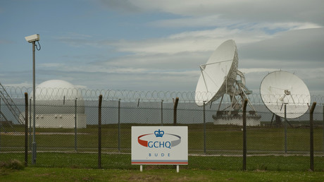 Satellite dishes at GCHQ's outpost in southwest England. © Kieran Doherty