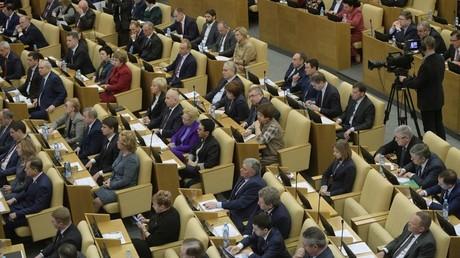 Russia's State Duma plenary session.