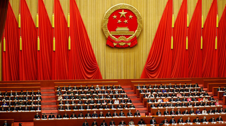 Chinese President Xi Jinping speaks at the closing session of the National People's Congress (NPC) at the Great Hall of the People in Beijing, China. March 20, 2018 © Damir Sagolj