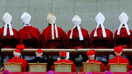 FILE PHOTO: Archibishops sit as they wait their turn to receive the pallium from the Pope © Paolo Cocco