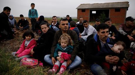 Syrian refugees near the village of Nea Vyssa, Greece, May 2, 2018 © Alkis Konstantinidis