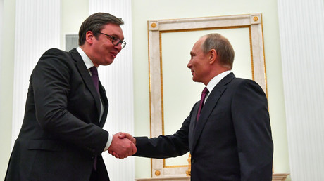 5bb3f436dda4c8a2558b45f3 Serbia's Vucic inspired after talks with Putin, got 'everything he was looking for'