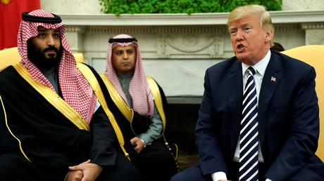 5bc63db7dda4c8a4798b45dd Trump says no 'financial interest' in Saudi Arabia, but billions in US-Saudi ties are at stake