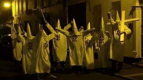 5bd743fdfc7e93946e8b4614 Group dressed as KKK members near Islamic centre sparks N. Ireland hate crime probe