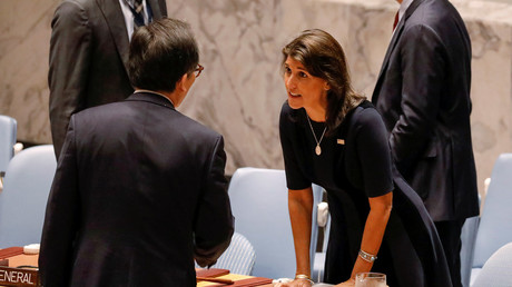 5be51711fc7e93e3518b45d2 US won't let Russia ease North Korea sanctions, Haley says