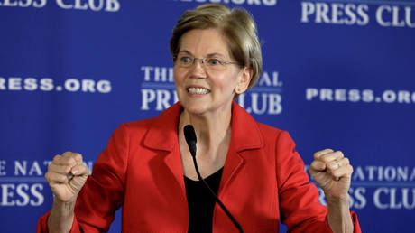 5c2a49b2fc7e936e018b45ff Skepticism & Pocahontas jokes: Twitter reacts to news Elizabeth Warren running for president in 2020