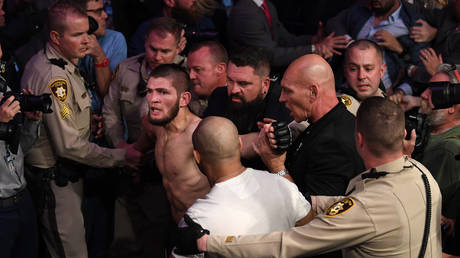 5c3badabfc7e93245d8b456a 'We smashed your team that night you punk': Khabib bites back at Nate Diaz insult