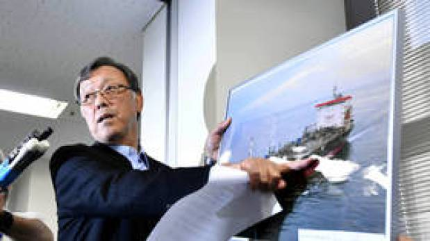 Japanese tanker owner claims crew saw 'flying objects' before attack, denies ship struck mine