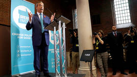 Brexit Party leader Nigel Farage speaks during his general election campaign launch in London © Reuters / Peter Nicholls