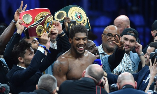 5decc4a62030275427351187 Andy Ruiz Jr vs Anthony Joshua 2 in pictures: 16 great shots from the 'Clash on the Dunes' as Joshua reclaims his titles (PHOTOS)