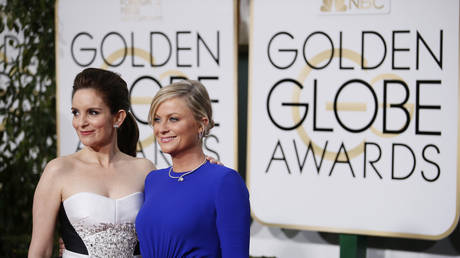 Tina Fey, Amy Poehler at 72nd Golden Globes, 2015