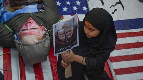 FILE PHOTO: Protest over the murder of Iranian Major-General Qassem Soleimani © Global Look Press via ZUMA Press / Hussain Ali