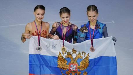 5e2cb65685f540585903ac06 Triumph of Tutberidze: Russian female figure skaters sweep the podium at 2020 European Championship (VIDEO)