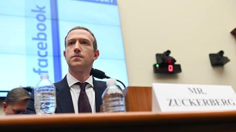 Facebook CEO Mark Zuckerberg testifies before Congress,  October 23, 2019 file photo.