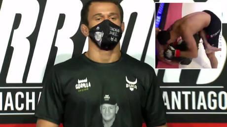 Usman Nurmagomedov earned his 10th MMA victory © Twitter / Grabaka_Hitman