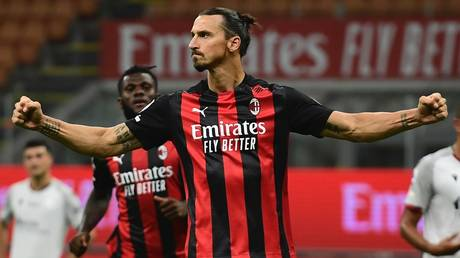 Double strike: AC Milan's Zlatan Ibrahimovic