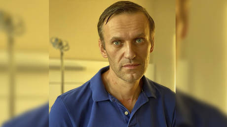 FILE PHOTO: Russian opposition politician Alexei Navalny is pictured at Charite hospital in Berlin, Germany, in this undated image obtained from social media September 22, 2020.