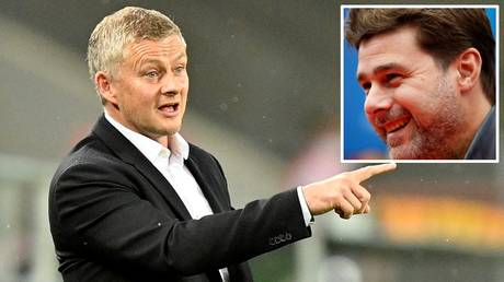 Managerial change? Ole Gunnar Solskjaer's position at Old Trafford has been linked with Mauricio Pochettino (inset)
