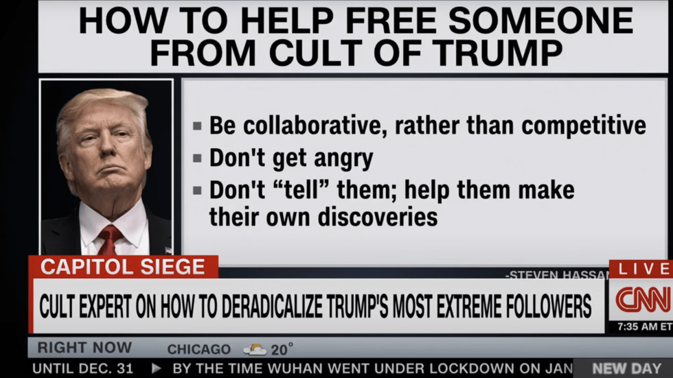 CNN airs guide to DEPROGRAM MAGA SUPPORTERS as cult expert claims ENTIRE country needs post-Trump help