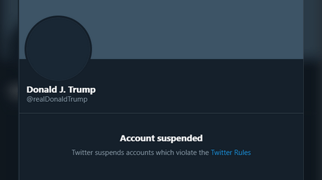 "President Donald Trump is ""permanently"" suspended from Twitter."