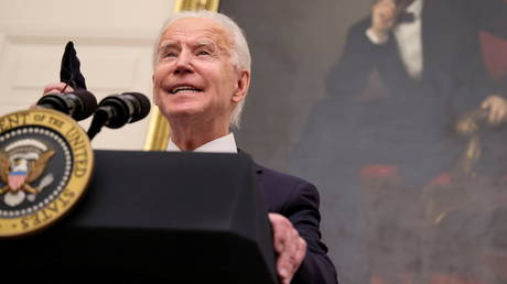 US President Joe Biden speaks about his administration's plans to fight the coronavirus at the White House in Washington, DC, January 21, 2021.