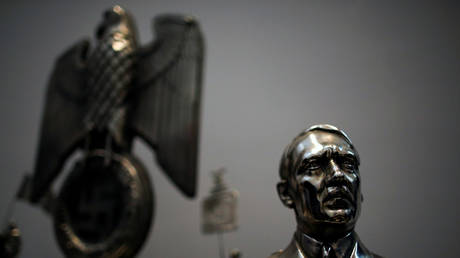 FILE PHOTO: Bust of Hitler displayed at the Holocaust museum in Buenos Aires