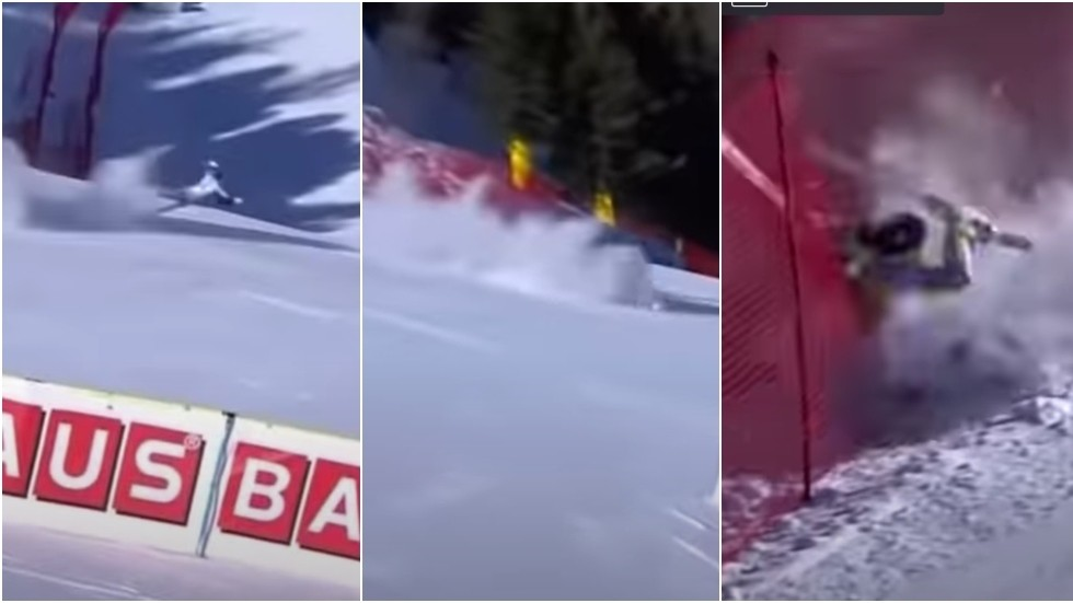 'Stomach-turning': Norwegian ski star airlifted to hospital after horrific crash leaves her screaming in agony (VIDEO)